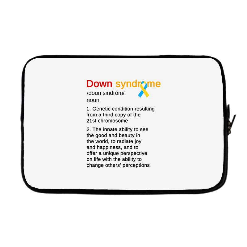 Down Syndrome Definition Awareness Month Laptop Sleeve  By Artistshot
