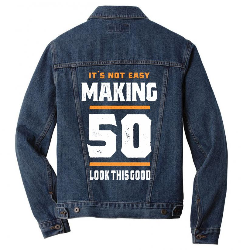 50 Years Old Birthday Gift Men Denim Jacket