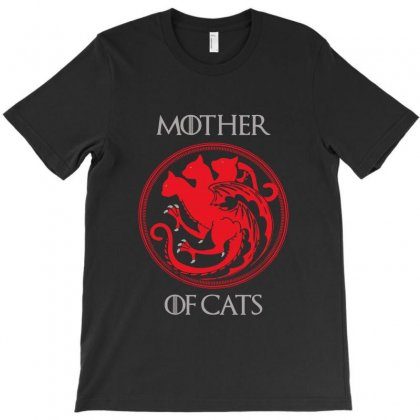 Mother Of Cats T-shirt Designed By Fejena