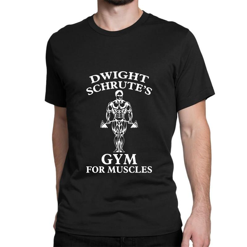 7f7c427a Custom Dwight Schrute's Gym For Muscles For Dark Classic T-shirt By  Nurbetulk - Artistshot