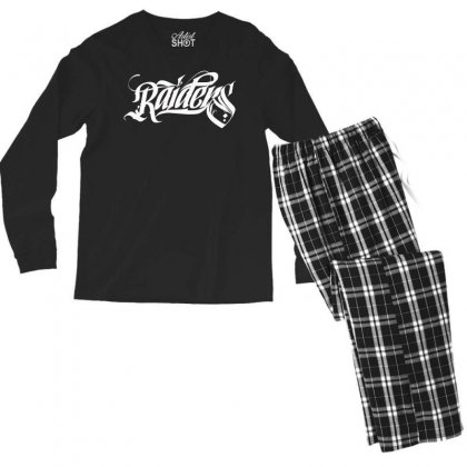 Raiders Men's Long Sleeve Pajama Set Designed By Tiococacola
