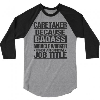 Awesome Tee For Caretaker 3/4 Sleeve Shirt Designed By Pinkanzee