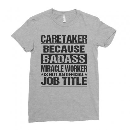 Awesome Tee For Caretaker Ladies Fitted T-shirt Designed By Pinkanzee