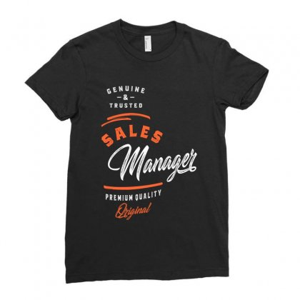 Sales Manager Ladies Fitted T-shirt Designed By Cidolopez