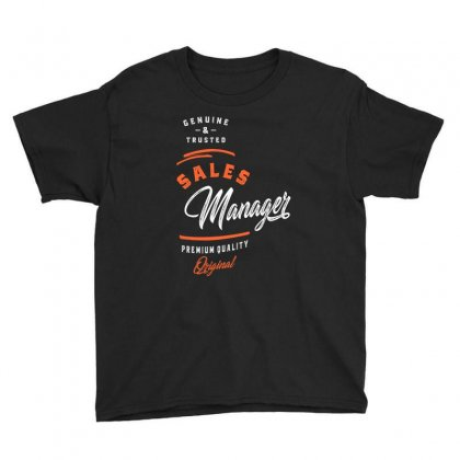 Sales Manager Youth Tee Designed By Cidolopez