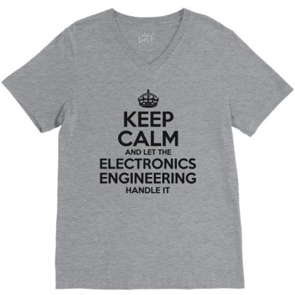 Electronics Engineering V-neck Tee Designed By Pinkanzee