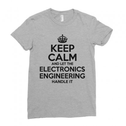 Electronics Engineering Ladies Fitted T-shirt Designed By Pinkanzee