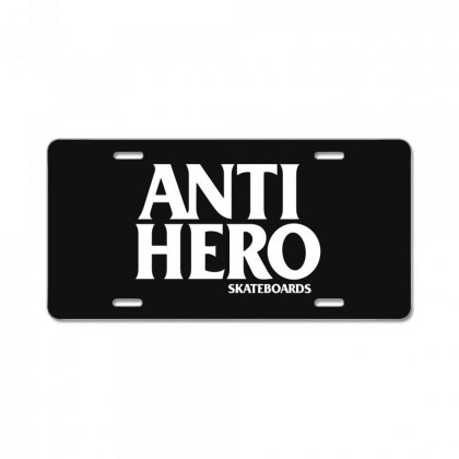 Anti Hero License Plate Designed By Silicaexil