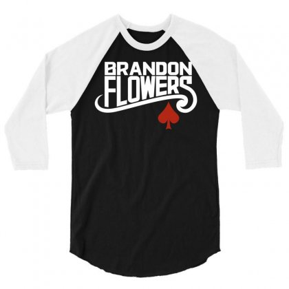 Brandon Flowers 3/4 Sleeve Shirt Designed By Silicaexil