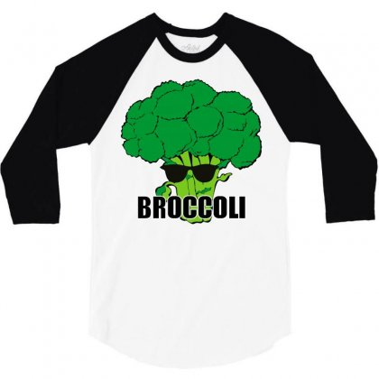 Broccoli Hip Hop 3/4 Sleeve Shirt Designed By Silicaexil