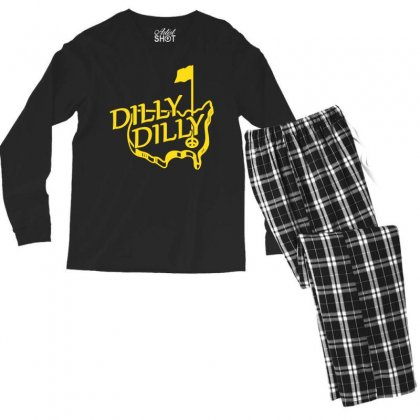 Dilly Masters Golf Men's Long Sleeve Pajama Set Designed By Silicaexil