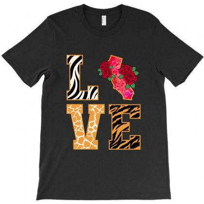 Love California T-shirt Designed By Nurbetulk
