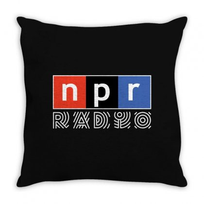 Npr - National Public Radio Throw Pillow Designed By Motleymind