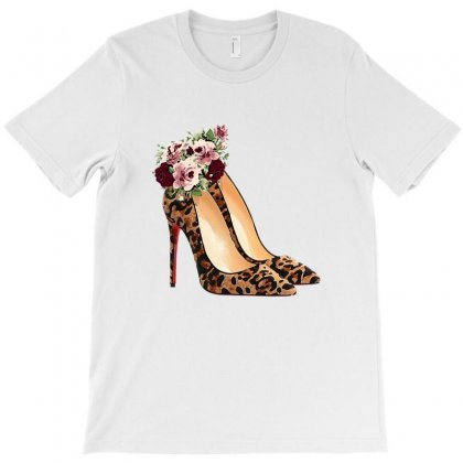 Watercolor Leopard Stiletto T-shirt Designed By Nurbetulk