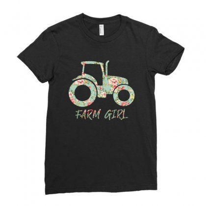 Farm Girl Ladies Fitted T-shirt Designed By Sengul