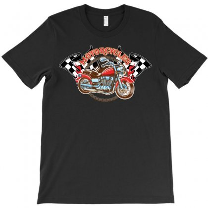 Retro Motorcycle T-shirt Designed By Omer Acar