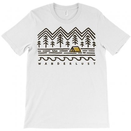 Wanderlust T-shirt Designed By Quilimo