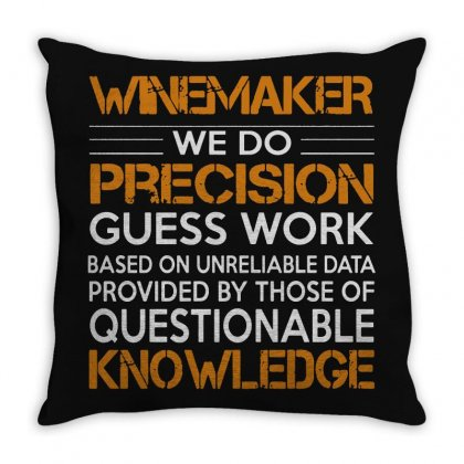 Awesome Shirt For Winemaker Throw Pillow Designed By Milanacr