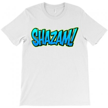 Shazam Cool Blue T-shirt Designed By Tiococacola