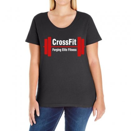Crossfit Forging Elite Fitness Ladies Curvy T-shirt Designed By Black White