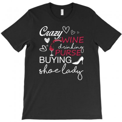 Love Wine, Purses And Shoes T-shirt Designed By Hung