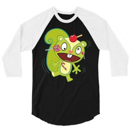 Nutty Nuttin' Wrong With Candy 3/4 Sleeve Shirt Designed By Gooseiant