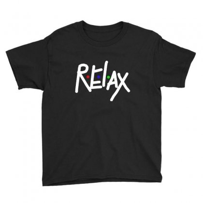 Relax In White Youth Tee Designed By Feniavey