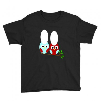 Red And Teal Owl Youth Tee Designed By Feniavey