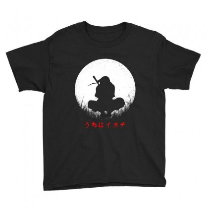 Itachi Uchiha And  Moon Youth Tee Designed By Blqs Apparel
