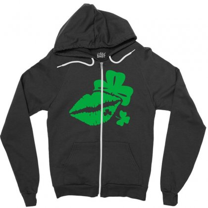 St Patricks' Day Kiss Funny Tshirt Zipper Hoodie Designed By Alex