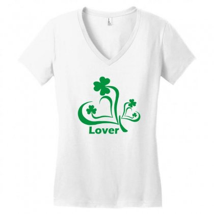 Lover Funny Tshirt Women's V-neck T-shirt Designed By Alex