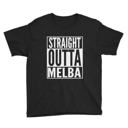 Straight Outta Melba Youth Tee Designed By Milanacr