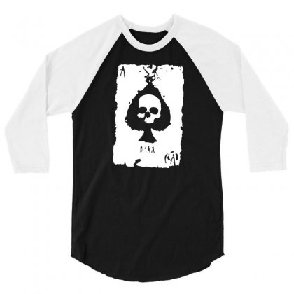 Ace Of Spades 3/4 Sleeve Shirt Designed By Tee Shop