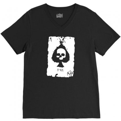 Ace Of Spades V-neck Tee Designed By Tee Shop