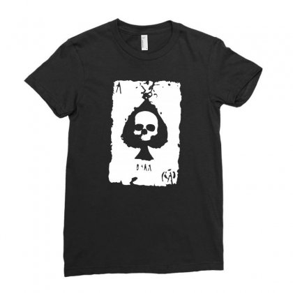 Ace Of Spades Ladies Fitted T-shirt Designed By Tee Shop