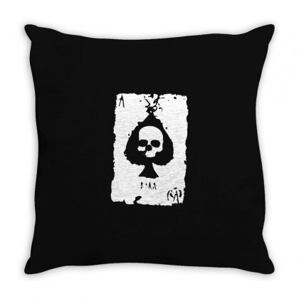Ace Of Spades Throw Pillow Designed By Tee Shop