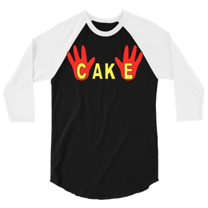 Burgers Cake Finger 3/4 Sleeve Shirt Designed By Garnisflok