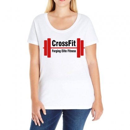 Crossfit Forging Elite Fitness (black) Ladies Curvy T-shirt Designed By Black White