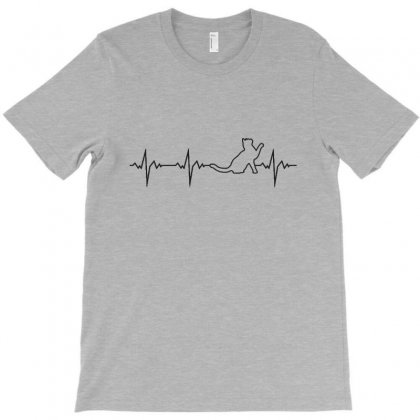 Cat Heartbeat T-shirt Designed By Milanacr