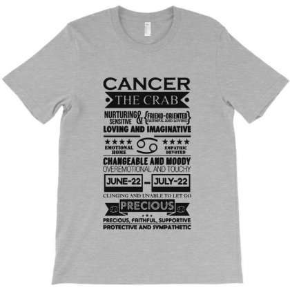Cancer The Crab Zodiac Sign Characteristics T-shirt Designed By Milanacr