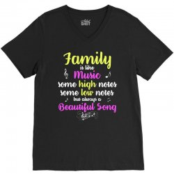 family is like music some high notes somes low notes but always a beau V-Neck Tee | Artistshot