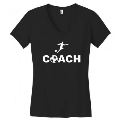 Coach Women's V-neck T-shirt Designed By Hung
