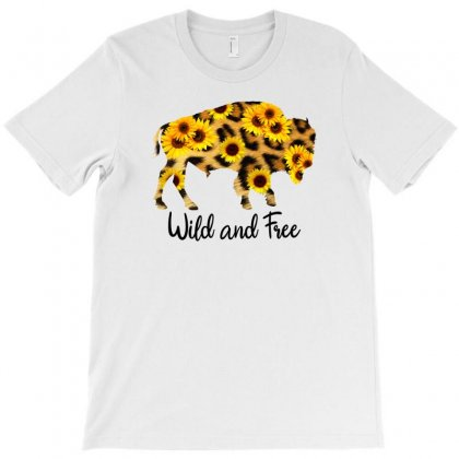 Wild And Free Bison T-shirt Designed By Sengul