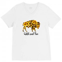wild and free bison V-Neck Tee | Artistshot