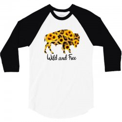 wild and free bison 3/4 Sleeve Shirt | Artistshot