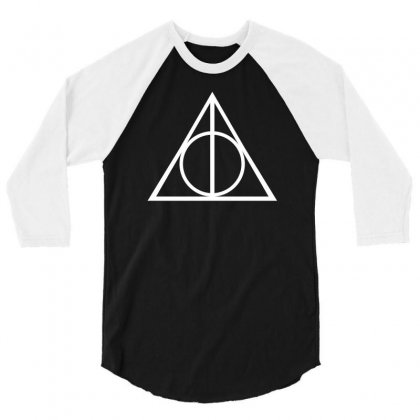 Deathly Hallows Triangle 3/4 Sleeve Shirt Designed By 4kum