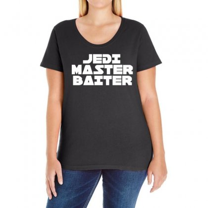Jedi Master Baiter Ladies Curvy T-shirt Designed By 4kum