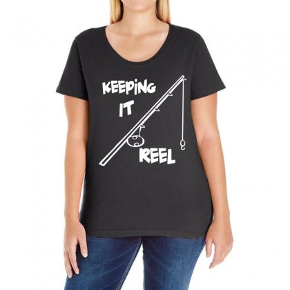 Keeping It Reel Ladies Curvy T-shirt Designed By 4kum