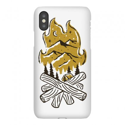Camp Fire Iphonex Case Designed By Quilimo