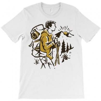 Hiker T-shirt Designed By Quilimo
